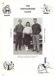 Sophomore Class Officers:  Gene Fiese, Vicki Loga, Don Hawkins