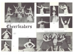 Sr. Cheerleaders:  Marilyn Peterson, Donna Bryant, Sue Melaas, Mary Jo Schelman