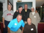 Classmates on '62 Basketball Team  Row 1:  Jim Buroker,  Dick 'Whitey' Gilbertson  Row 2:  Terry Fell, Glen 'Snook'
